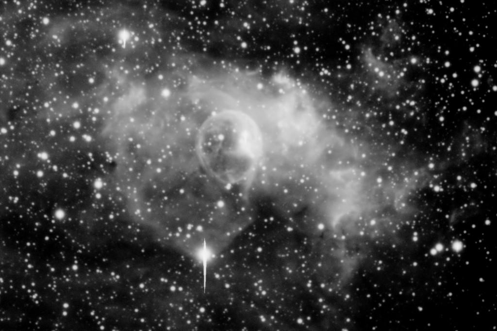 Kuplasumu 10 helmikuuta 2015 H-alfa suotimella kuvattuna. Kuva © Veli-Pekka Hentunen / Warkauden Kassiopeia.