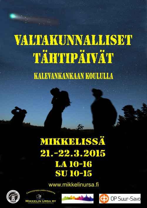 Tähtipäivät 2015 pidetään Mikkelissä. Kuva: Mikkelin Ursa ry.