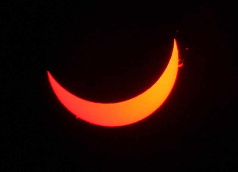 Lunt solar telescope image. Image: Esa Heikkinen.