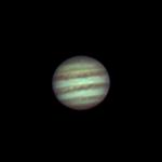 Jupiter vaalenevien kevätiltojen kohteena